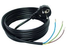 3-wire 3m black network cable
