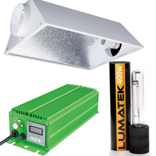 HPS 400W PRO set - ventilated reflector + electronic power supply + LUMatek HPS lamp