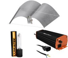 Lumatek dual 600W HPS set + el. Power supply + Big Bird reflector 120x50cm