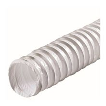PVC ventilation duct white 100mm 1m