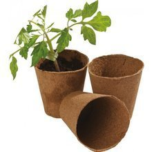 Peat pots Garland for seedlings round - 12 pcs, 8 cm