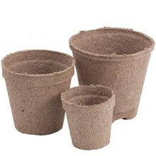 Peat pots Jiffy Pot for seedlings - 100 pcs, 10x9 cm