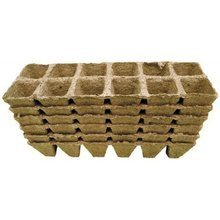 Peat pots Jiffy Pot for seedlings - 6x6x6cm 10pc tray (12 pots)