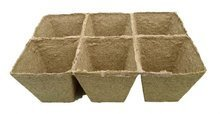 Peat pots Jiffy Pot for seedlings - 8x8x8cm 1pc tray (6 pots)